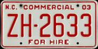 Commercial - For Hire 2003