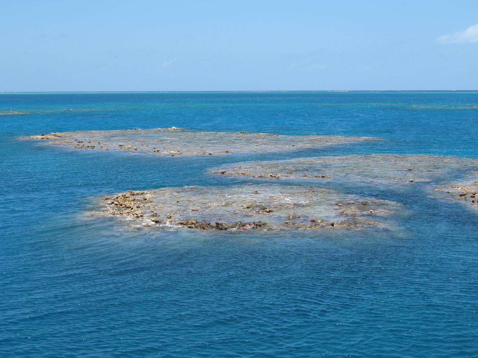 Das Moore Reef von oben