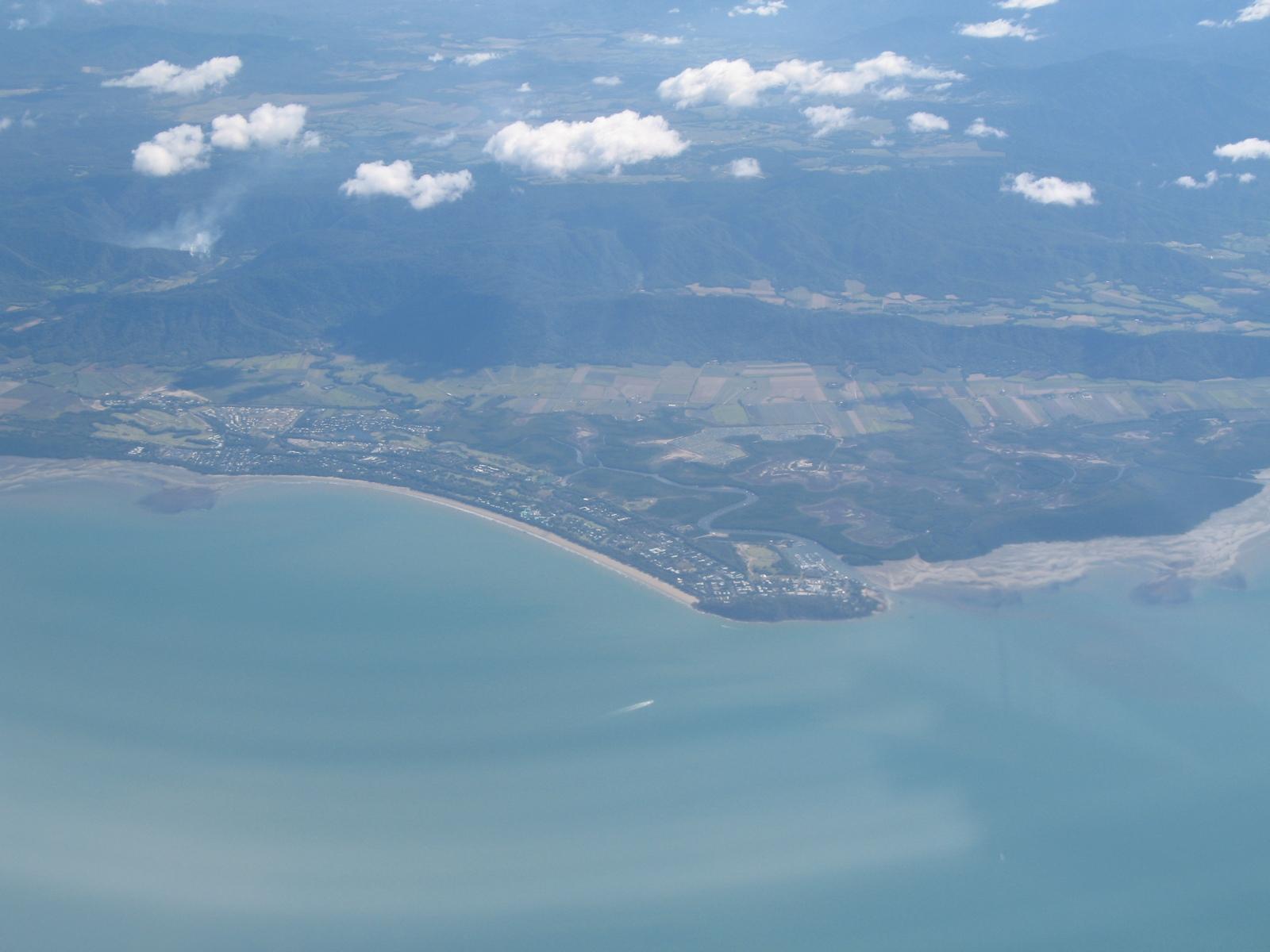 Port Douglas aus dem Flugzeug