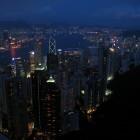 Hong Kong Skyline vom Victoria Peak aus