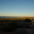 Blick hinunter zum Shell Beach