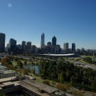 Blick vom Kings Park auf Downtown Perth