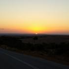 Sonnenuntergang auf der Fahrt nach Cervantes