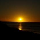 Sonnenuntergang an der Nordspitze von Cape Range (bei Exmouth)