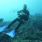 Martin taucht am Ningaloo Reef