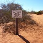 Hinweisschild im Francois Peron National Park