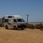 Unser Camper an der Hutt Lagoon