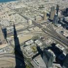 Blick von der Aussichtsplattform des Burj Khalifa