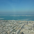 """Blick Richtung """"The World"""" von der Aussichtsplattform des Burj Khalifa"""