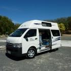 unser Camper auf dem Club Capricorn Caravan Park