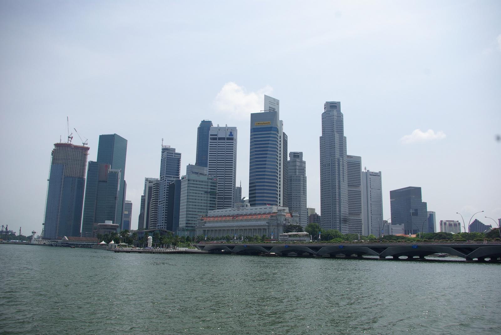 Singapore - Stadtzentrum, Blick von Esplanades