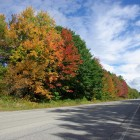Indian Summer Idylle am US Highway Number One in Maine